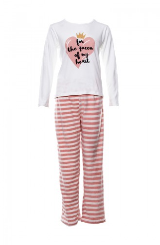 Printed Women Pajamas Suit MLB1049-01 Pink 1049-01