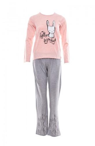 Printed Women Pajamas Suit MLB1051-01 Pink 1051-01