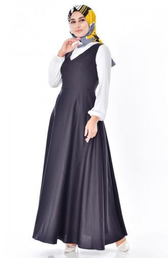 توبانور فستان بدون أكمام بتصميم سادة 2986-05 لون اسود 2986-05