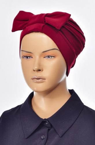 Bonnet Croisé Double Face avec Noeud 0023-13 Cerise 0023-13