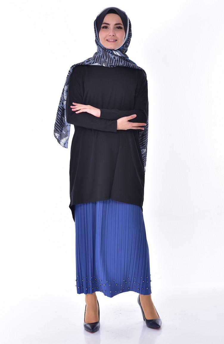 06fb5d86c Pleated Skirt 5026-03 Indigo 5026-03