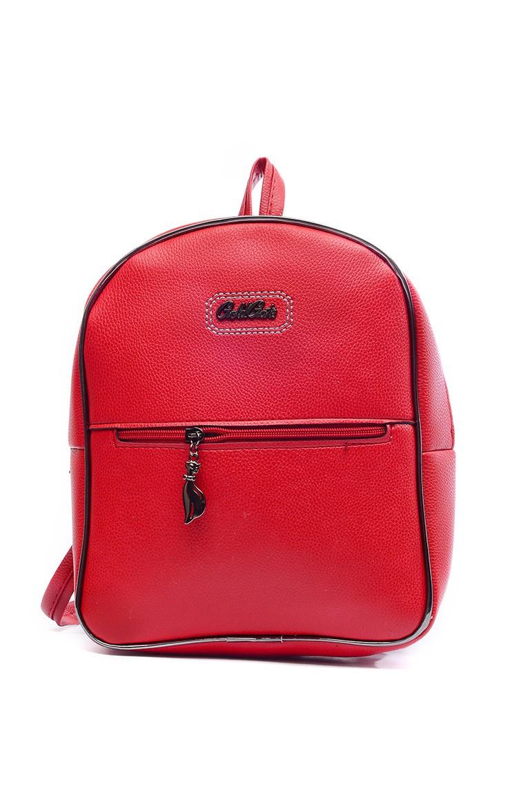 5ed6a336df621 حقيبة ظهر نسائية B1366-2 لون أحمر 1366-2