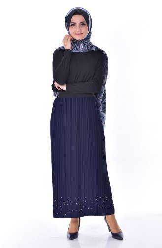 Pleated Skirt  5026-09 Navy Blue 5026-09