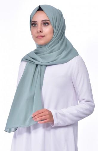 شال قطن بتصميم سادة 60065-20 لون اخضر فاتح 20