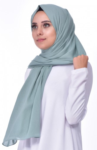 Plain Cotton Shawl 60065-20 Mint Green 20
