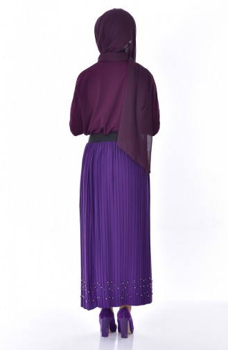 Pleated Skirt   5026-06 Purple 5026-06