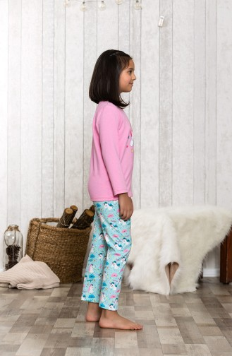 Printed Pajamas Set MLB3002-01 Pink 3002-01