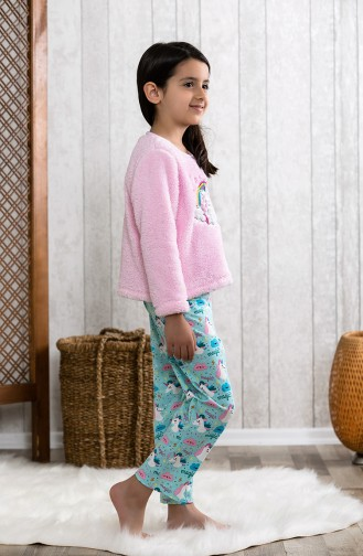 Embroidered Children´s Pajamas Set MLB3003-01 Pink 3003-01