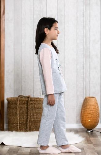 بيجامة اطفال بتصميم مُطبع MLB3006-01 لون زهري 3006-01