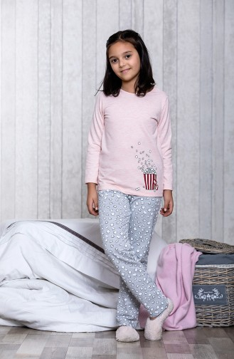 Printed Children´s Pajamas Set MLB3007-01 Gray 3007-01