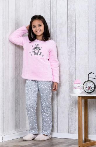 Ensemble Pyjama Imprimé Pour Enfant MLB3008-01 Rose 3008-01