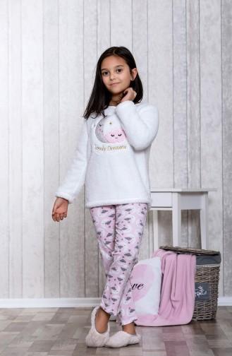بيجامة اطفال بتصميم مُطبع MLB3012-01 لون زهري 3012-01