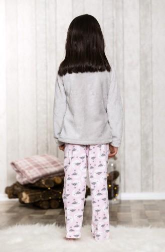 Ensemble Pyjama a Motifs Pour EnfantMLB3013-01 Gris 3013-01