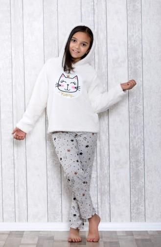 Gray Kids Pajamas 3016-01