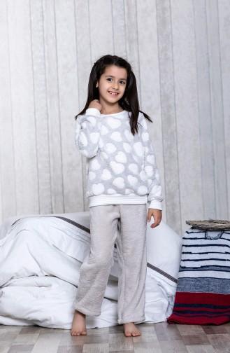 بيجامة اطفال بتصميم مُطبعMLB3023-01 لون رمادي 3023-01