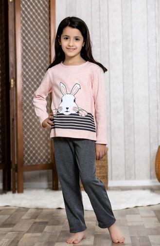 Ensemble Pyjama Imprimé Pour Enfant MLB3024-01 Rose 3024-01