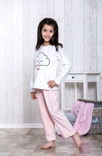 Nakışlı Çocuk Pijama Takımı MLB3025-01 Pembe