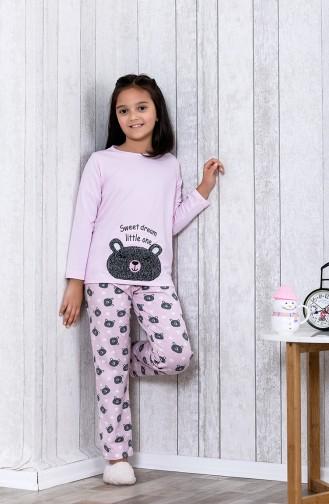 بيجامة اطفال بتصميم مُطبع MLB3031-01 لون زهري 3031-01