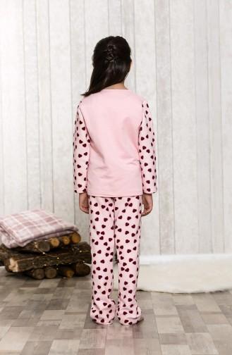 Ensemble Pyjama Imprimé Enfant MLB3041-01 Saumon 3041-01