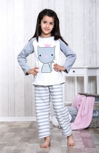 Printed Children´s Pajamas Set MLB3044-01 Gray 3044-01