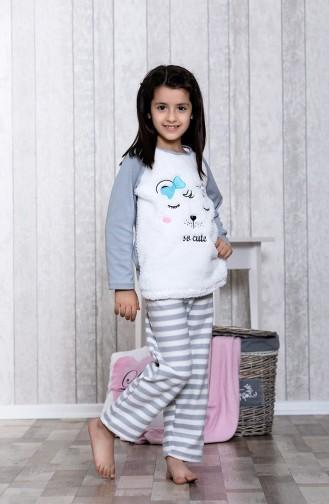 Ensemble Pyjama a Motifs Pour Enfant MLB3045-01 Gris 3045-01