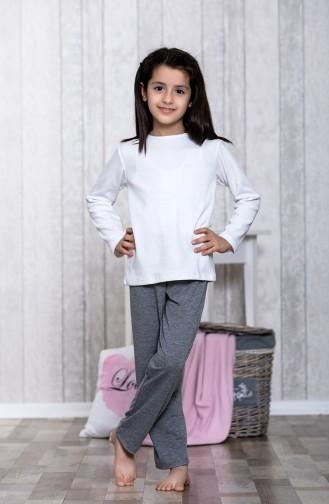 Ensemble Pyjama 3 Pieces Pour Enfant MLB5004-01 Gris 5004-01