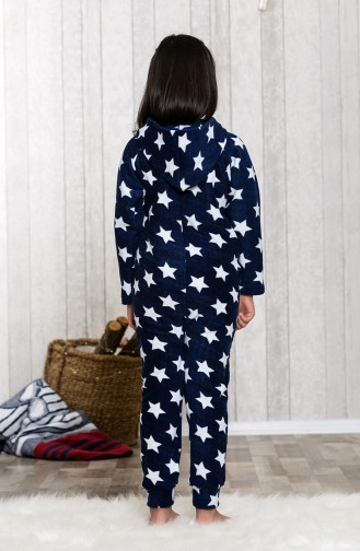 Printed Children Sleeping Overalls MLB8002-01 Navy Blue 8002-01
