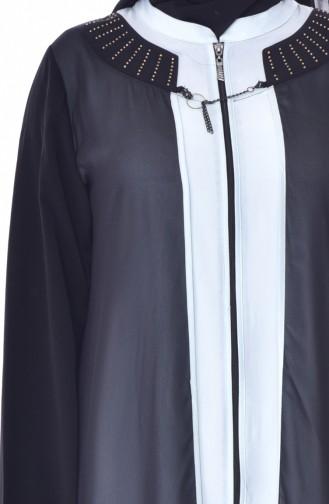 Large Size Zippered Cap 1604-03 Black Mint Blue 1604-03