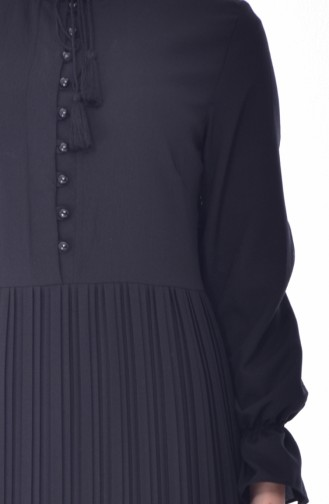 Piliseli Elbise 1297-02 Siyah