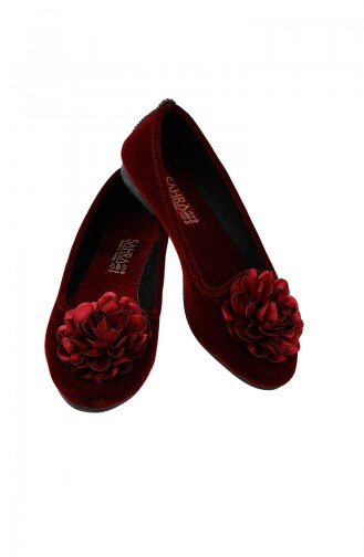 Claret red House Shoes 0107-01