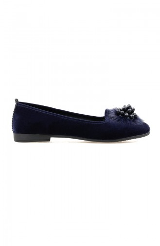 Navy Blue House Shoes 0109-02