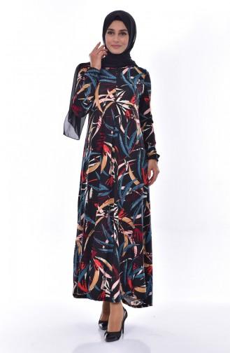 دلبر فستان بتصميم طيات 7041-03 لون خمري 7041-03