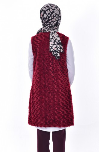 Pocket Plush Vest 70113-03 Claret Red 70113-03