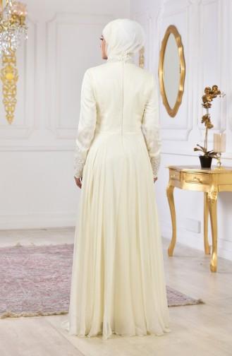 Laced Evening Dress 3093-01 Light Beige 3093-01