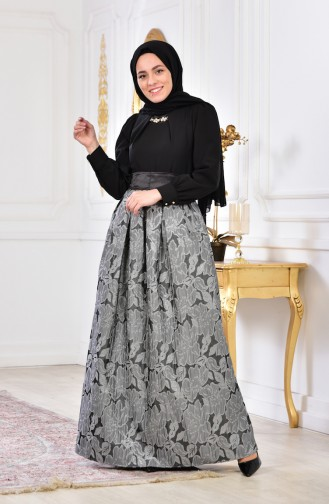 Silvery Evening Dress 2140-01 Gray 2140-01