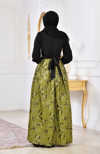 Robe de Soirée a Paillettes 2140-02 Khaki 2140-02