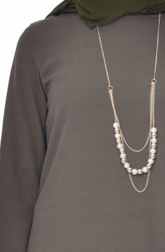 Necklace Tunic 0828-03 Khaki 0828-03