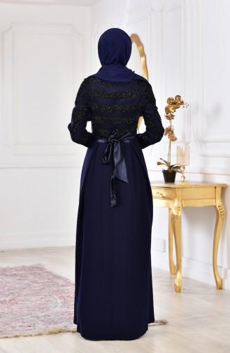 Robe a Ceinture 2146-01 Bleu Marine 2146-01