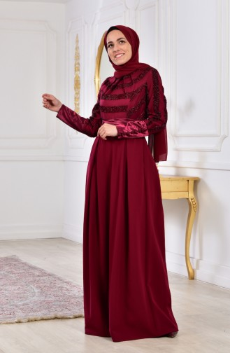 Belted Dress 2146-03 Plum 2146-03