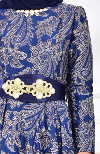Jacquard Evening Dress 2449-03 Saks 2449-03