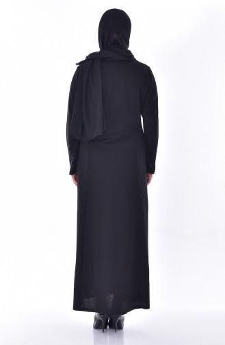 Large Size Stone Printed Dress 4823-02 Black 4823-02