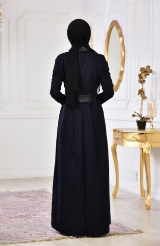 فستان بتصميم مُطبع 1617-02 لون اسود 1617-02