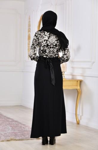 Robe a Motifs 2034-01 Noir 2034-01