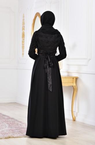 Belted Dress 2146-02 Black 2146-02