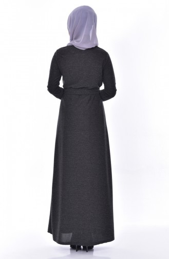 Belted Dress 2030-03 Black 2030-03