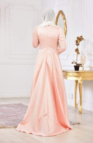 Pearl Evening Dress 6137-02 Salmon 6137-02