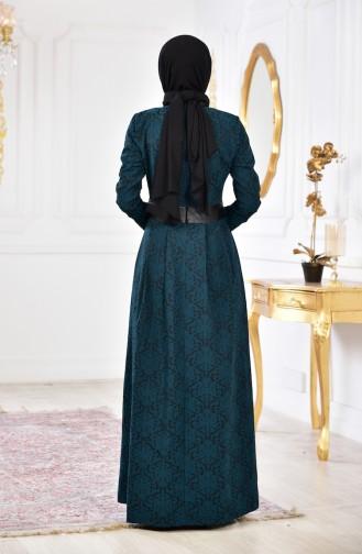 Robe Jacquard 1617-05 Vert emeraude 1617-05