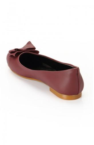 حذاء مسطح 3740-03 لون خمري 3740-03