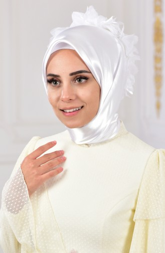 Ecru Ready to wear Turban 440006-01