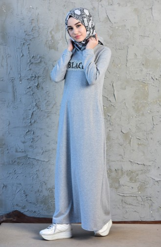 Hooded Sports Dress 8253-04 Gray 8253-04
